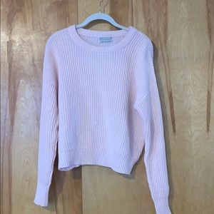 Pink urban outfitters knit sweater
